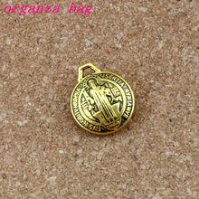 3D Saint Benedict Cross charm beads Antique gold Charm Pendants 17.5X20.9mm Fashion DIY Jewelry 30pcs /lots A-518