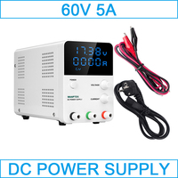 Adjustable regulated power supply 60V 5A voltage and current regulator switched source bench source digital display powersupply