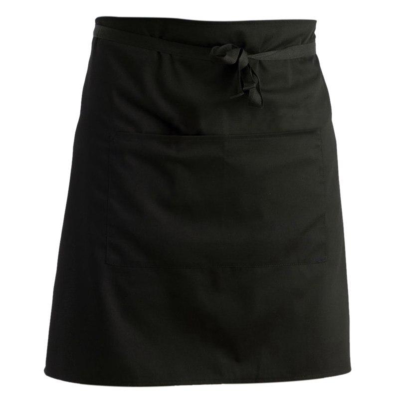Kitchen waist apron short waiter's apron apron with double pockets (black) Aprons     - title=