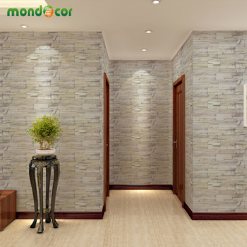 PVC Waterproof Contact Paper for Bedroom Wall Peel and Stick Stone Pattern Wallpaper Self Adhesive Stickers Kids Room Home Decor