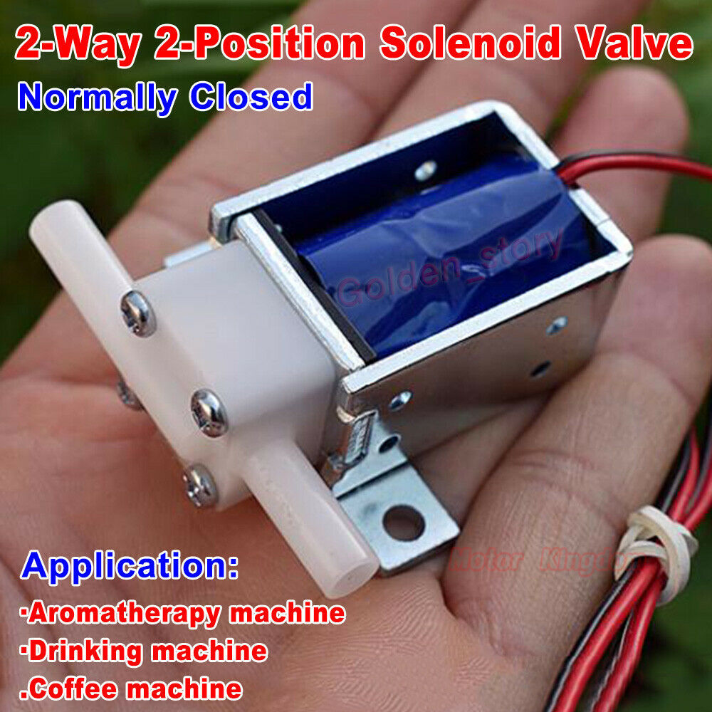 Micro Mini  Electric Solenoid Valve DC 12V N/C Normally Closed Water Air Control Valve