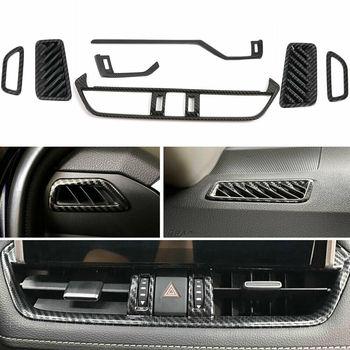 7pcs Carbon Fiber Style Car Air Vent Outlet Cover Trim Fit For Toyota RAV4 2019 2020
