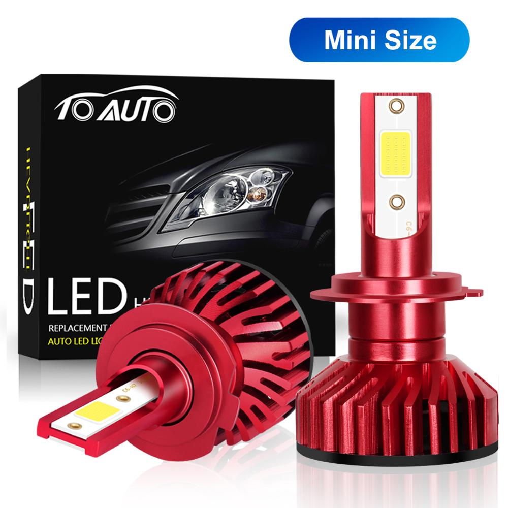 2pcs H27 880 881 LED Mini H1 H3 H7 H4 LED H8 H11 HB3 9005 HB4 9006 Bulbs Car Lights 10000LM 50W Auto Lamp 12V