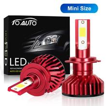 2pcs H27 880 881 LED Mini H1 H3 H7 H4 H8 H11 HB3 9005 HB4 9006 Bulbs Car Lights 10000LM 50W Auto Lamp 12V