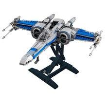 Nova star wars moc 05029 blocos de construção tijolos expositor para resistência x-wing fighter 75149 conjunto modelo brinquedos para crianças