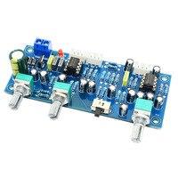 프로모션-2.1 채널 서브 우퍼 프리 앰프 보드 로우 패스 필터 프리 앰프 앰프 보드 Ne5532 로우 패스 필터베이스 프리 앰프