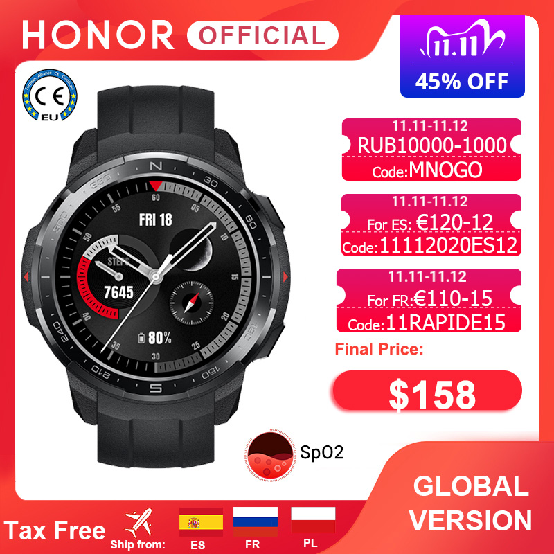 Global Version Honor Watch GS Pro Smart Watch SpO2 Smartwatch Heart Rate Monitoring Bluetooth Call 5ATM Sports Watch for Men|Smart Watches| - AliExpress