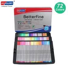 Цветные ручки Fineliner 0,4 мм, набор маркеров с тонкими наконечниками, металлический чехол для хранения, для журналов, планировщиков, Раскрашива...