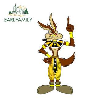 EARLFAMILY 13cm x 6.3cm for Wile E Coyote Motorcycle Car Bumper Window Stickers Vinyl Car Wrap Fashion Occlusion Scratch Decal image