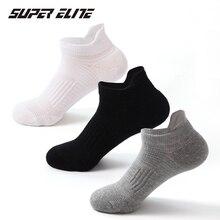 Super Elite bawełniane skarpety sportowe nowe buty do biegania skarpetki krótkie koszykówka skarpety solidna łódź Gym Fitness skarpety dla mężczyzn kobiety