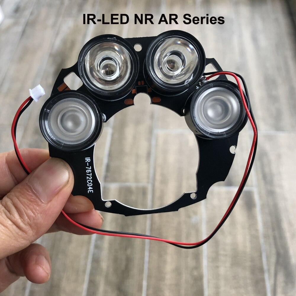 Rangée de LED infrarouge 4x 850nm caméra Spot lumière LED panneau IR Module Vision nocturne pour caméra IP CCTV caméra AHD