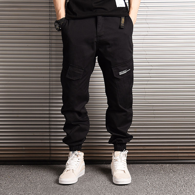 Fashion Streetwear Men Jeans Loose Fit Multi Pockets Cargo Pants Japanese Hip Hop Jeans Men Camouflage Military Joggers Pants