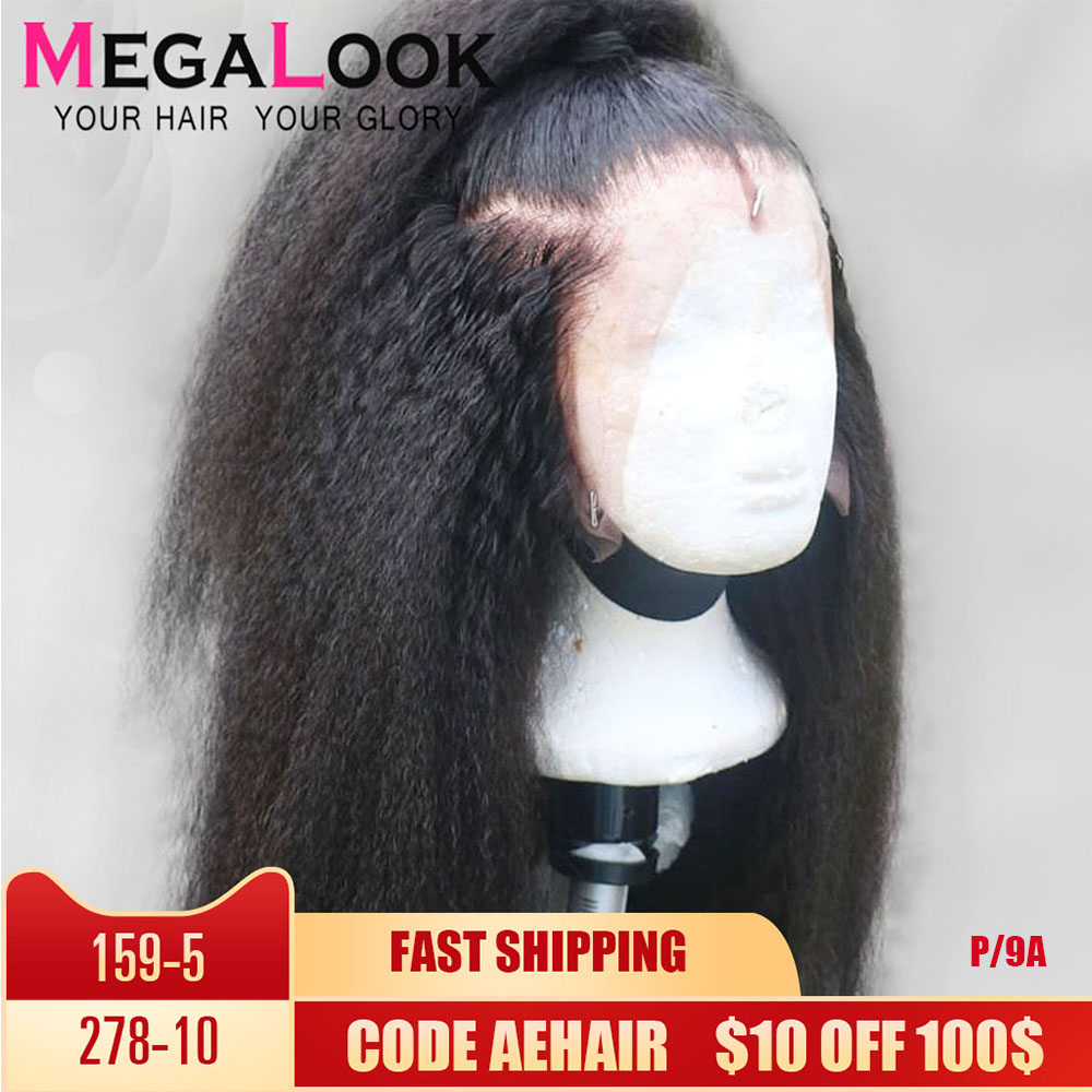 Kinky Straight Wig Human Hair Wigs Lace Front Human Hair Wigs Remy Hair 13x4 Peruvian Wig Lace Wig Humain Hair Lace Wig