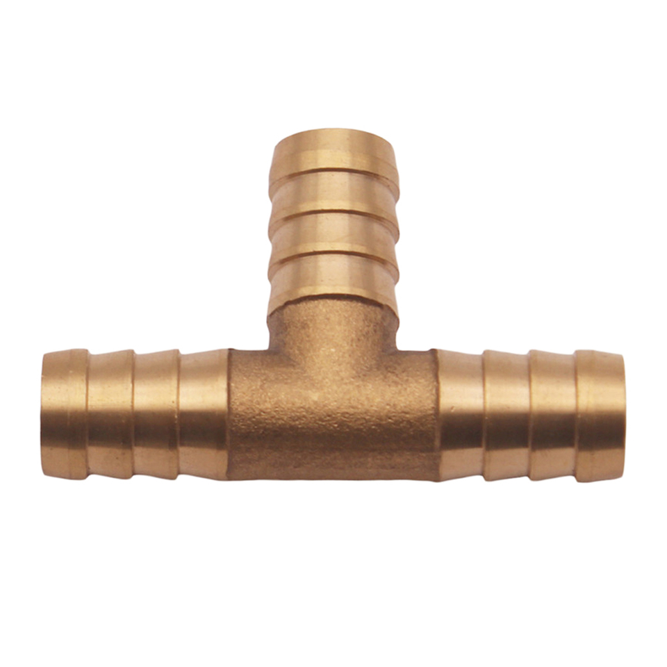 5//8 HOSE BARB TEE Brass Pipe 3 WAY T Fitting Thread Gas Fuel Water Air 1 PC