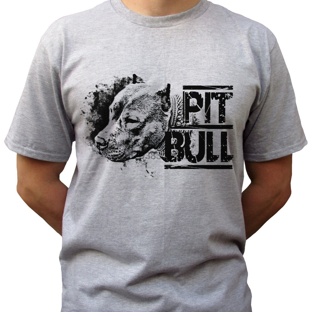 Pitbull-серая футболка, топ, питбулл, футболка, дизайн собаки-Мужские размеры
