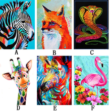 6PC Animals Cartoon 5D DIY Diamond Painting Full S