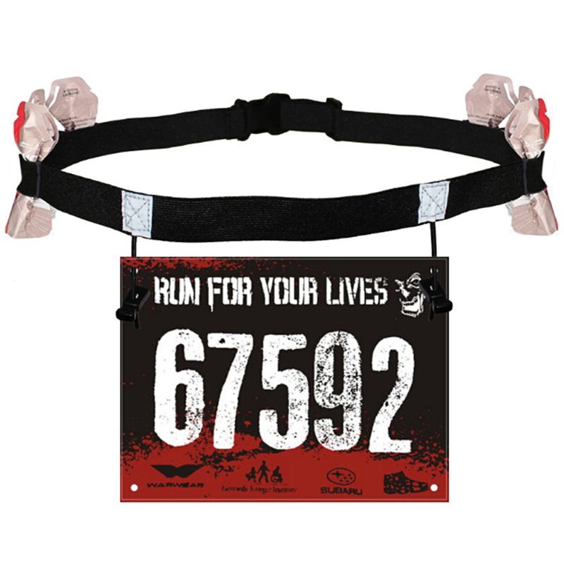 Unisex Triathlon Marathon Race Number Belt With Gel Holder Running Belt Cloth Belt Motor Running Outdoor Sports