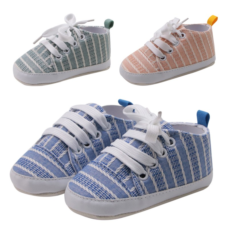 Newborn Baby Boys Girls Shoes Casual Striped Soft Toddlers First Walker Shoes Toddler Girl Boy Shoes