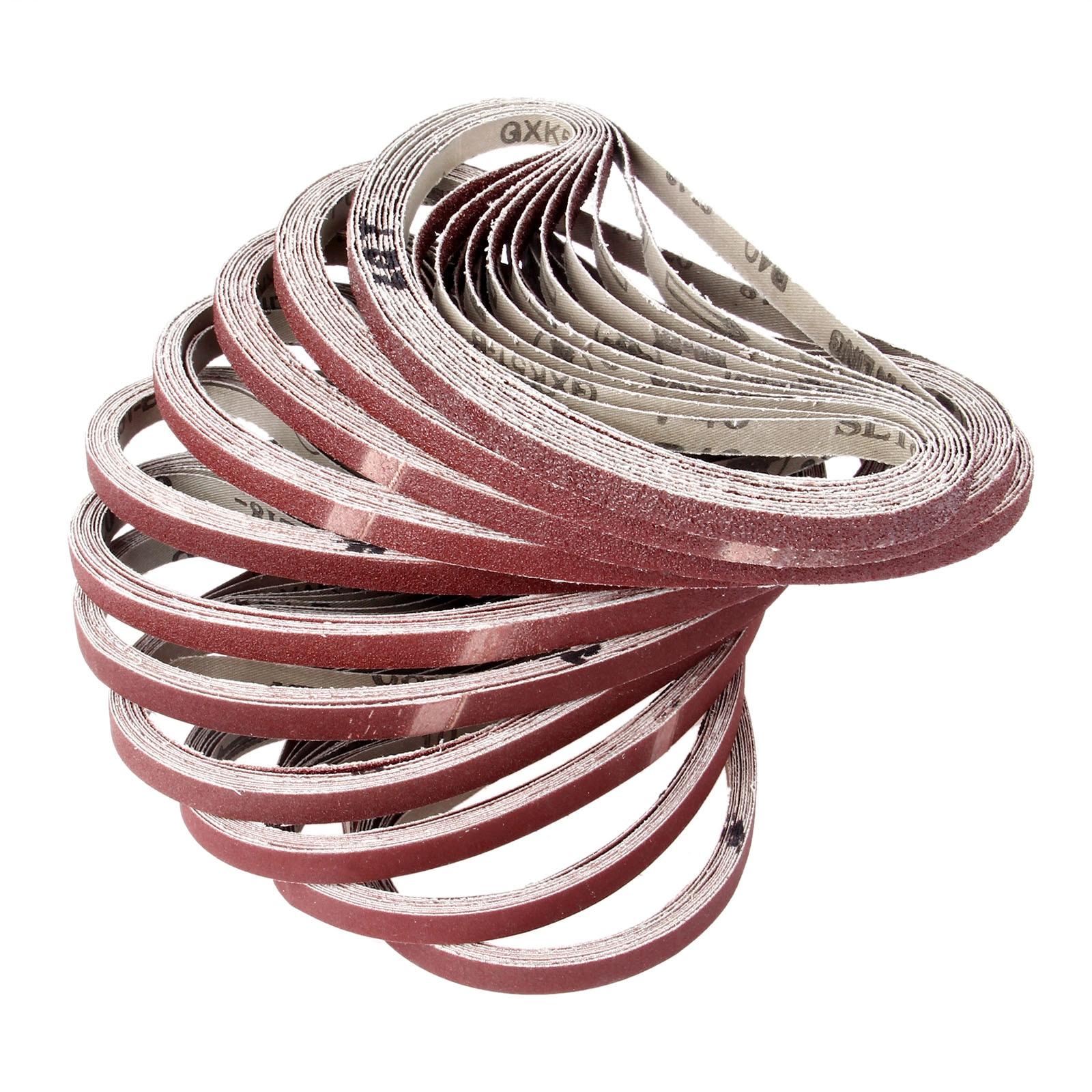 10Pcs Dremel Accessories  Abrasive Sanding Belt Grit 40-600 Sander Grinder Belt For Drill Grinding Polishing Tool 9*533mm