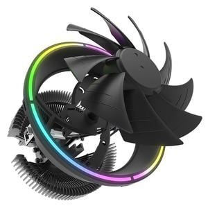 Image 4 - darkFlash CPU Air Cooler 3Pin Radiator RGB 120mm Cooler CPU Cooling Computer Case for LGA 1366/1156/1155/1150 AM4/AM3
