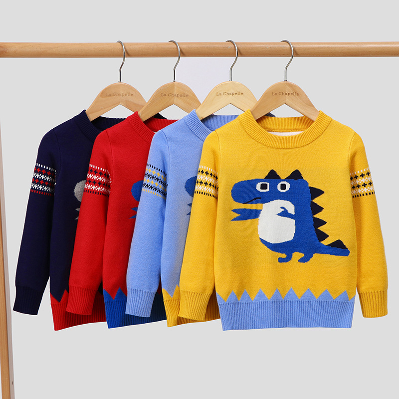 Toddler Kids Baby Boys Girls Cute Cartoon Animal Pullover Winter Sweater Clothes