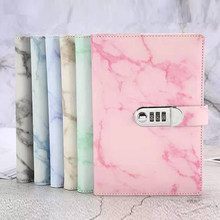 A5 Marble Leather Notebooks With Inner Page School Student Diary Hand Ledger Notepad