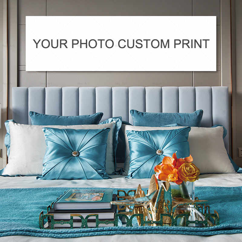 Custom Print On Canvas Painting Wall Art Poster Pictures For living Room Home Decor Personality Photo Customized Long Large Size