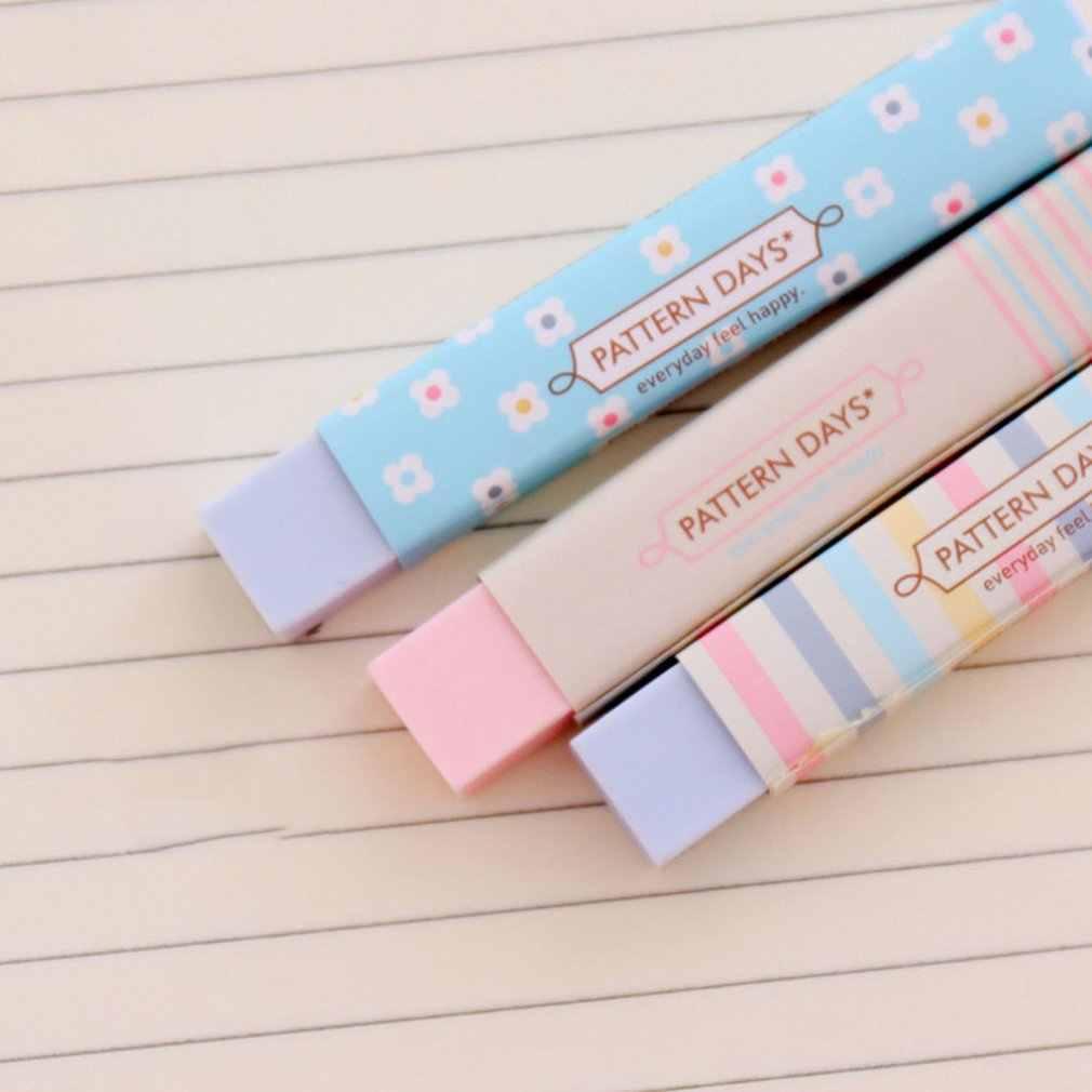 חמוד Kawaii לב פרח גומי מחקי יפה פס עיפרון מחק לילדים מתנות Creative קוריאני מכתבים חידוש פריט