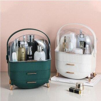 Fashion Big Capacity Cosmetic Storage Box Waterproof Dustproof Bathroom Desktop Beauty Makeup Organizer Skin Care Storage Drawer 1