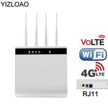 Yizloao 4g volta roteador wi fi sem fio de chamada voz roteador móvel hotspot telefone banda larga modem com slot sim rj11 lan porto