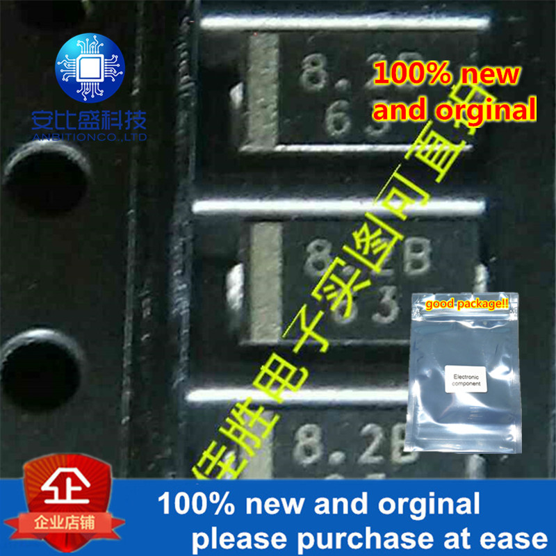 50pcs 100% New And Orginal PTZ8.2B 1W8.2V DO214AC Silk-screen 8.2B Regulator Tube In Stock