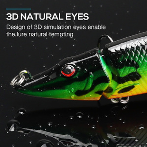 Image 3 - VTAVTA 3/5pcs Artificial Pike Wobblers Fishing Lures Set 12.5cm 20g Multi Jointed Hard Bait Crankbait Swimbait Fishing Tackle