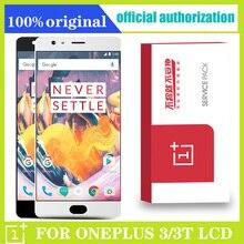 شاشة أموليد 5.5 بوصة ، أصلية ، تعمل باللمس, شاشة أموليد لهاتف Oneplus 3 3t شاشة LCD تعمل باللمس مع إطار لهاتف OnePlus 3 3t A3000 ، بديل