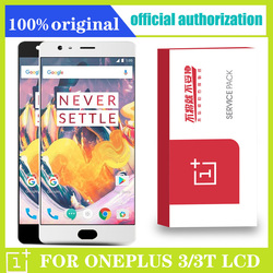 AMOLED 5.5'' Original Display For Oneplus 3 3T LCD Display Touch Screen with Frame for OnePlus 3 3T A3000 Display Replacement
