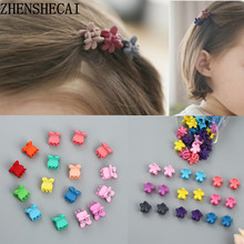 10pcs/lot new fashion little girls cute hair claw Candy color flower jaw clip children hairpin hair accessories wholesale 2019(China)