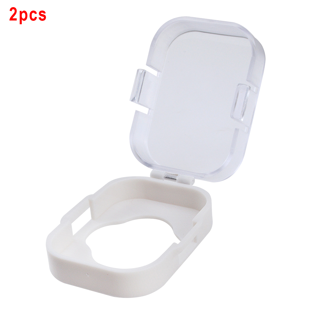 2pcs Cupboard Cabinet Knob Toilet Protective Cover Security Child Baby Room Switch Adhesive Safety Lock Door Gas Stove Guard