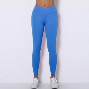Image 3 - Kaminsky Push Up Women Spamdex 8% Leggings High Waist Casual Pants Mujer Fashion Wrinkle Sportswear Fitness Leggings 8 Color