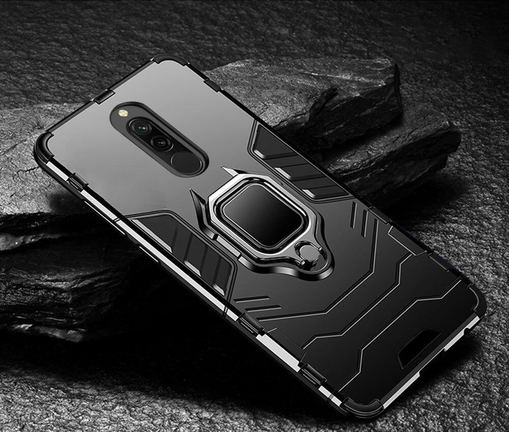 H638a5f92dad44b939384f45c7f9b53fco Armor Case for Redmi 8 8A Case Magnetic Car Phone Holder TPU+PC Bumper Cover on for Xiaomi Redmi 8 8A 8 A Global Version Case