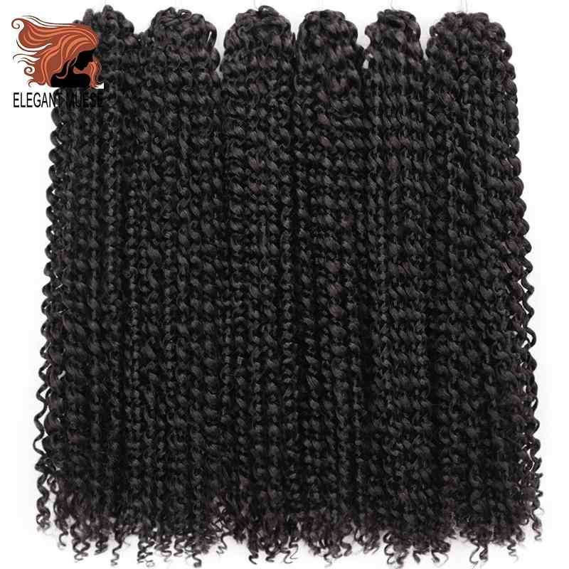 Passion Twist Crochet Hair Afro Kinky Curly 18 นิ้วยาว Bohemian Crochet Braid Synthetic Passion Twist Extension ธรรมชาติ