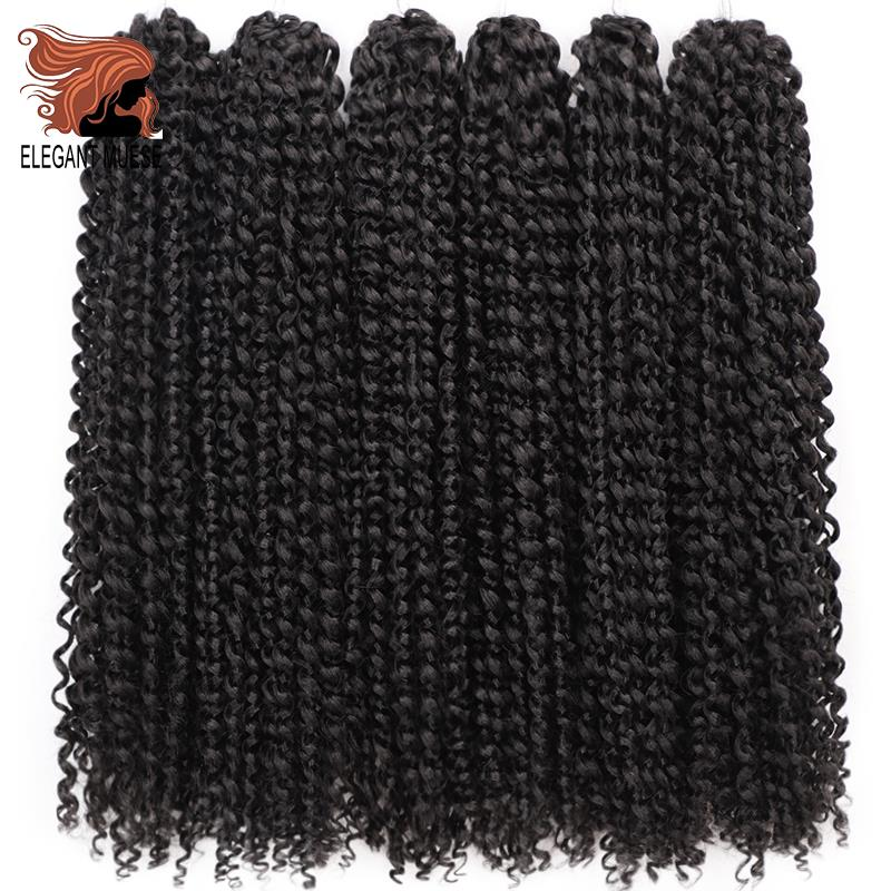 Passion Twist Crochet Hair Afro Kinky Curly 18 Inch Long Bohemian Crochet Braid Synthetic Make Pre Twist Natural Hair Extension
