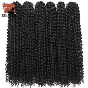 Passion Twist Crochet Hair Afro Kinky Curly 18 Inch Long Bohemian Crochet Braid Synthetic Make Pre Twist Natural Hair Extension(China)