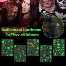 Halloween Waterproof Temporary Tattoo Sticker for Decoration Carnival  Neon Party Bar Black Light Theater