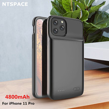 NTSPACE Battery Cases For iPhone 11 Pro Power Case 4800mAh Liquid Silicone Shockproof Extenal Bank Charger Cover