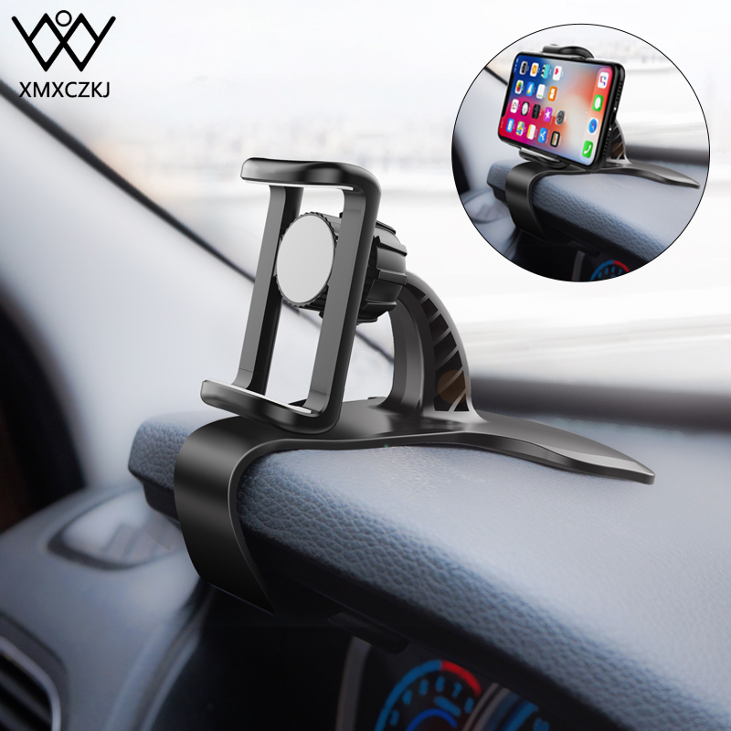 XMXCZKJ Adjustable Car Phone Holder Dashboard Mount Holder For 3.5-6.5 Inch Clamp Clip Car-Styling Stand For IPhone 11 Pro Max