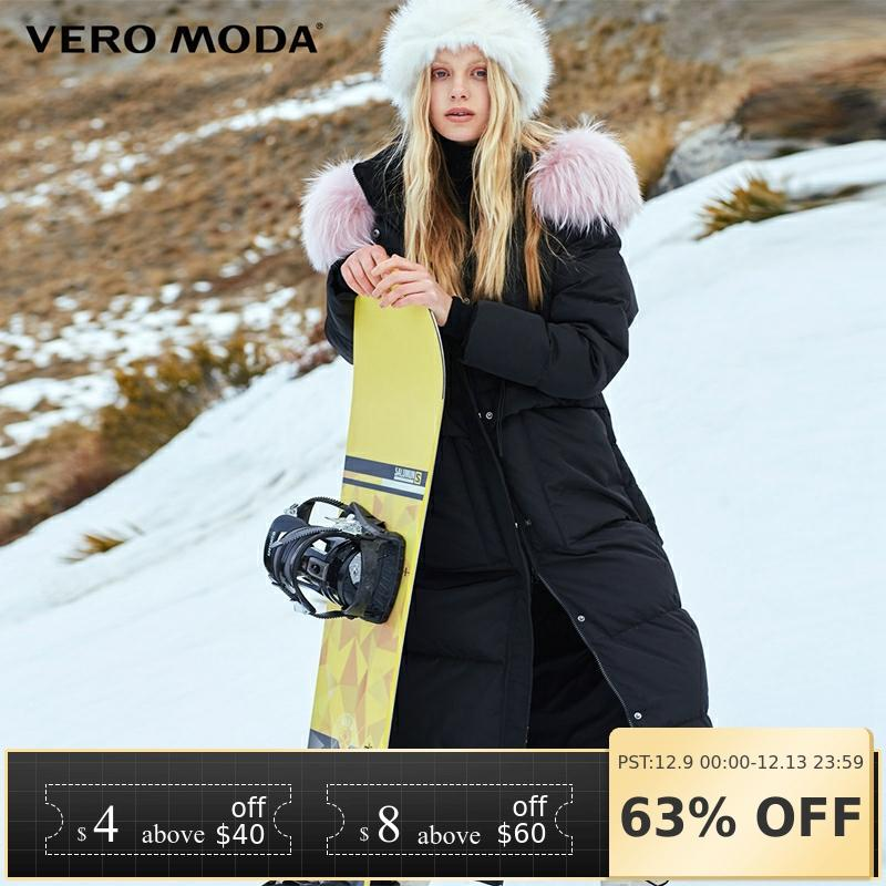 Vero Moda Winter Raccoon Fur Straight Long Down Jacket Women | 318412526