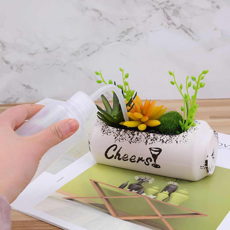 150/250/500mL dziób wody wylewanie czajnik narzędzie sukulenty roślin podlewanie kwiatów może miękkie butelki z długa dysza dziób zakraplacz