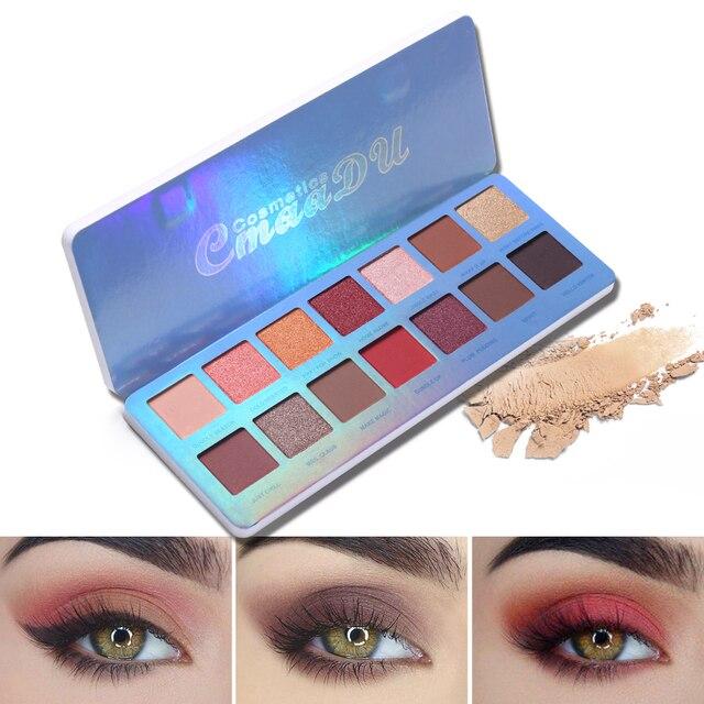Cmaadu Chill Baby 14 Colors Eyeshadow Makeup Palette Shimmer Matte Nude Shining Waterproof Smoky Eye Shadow Powder Cosmetics 2