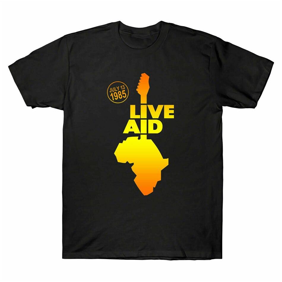 Nueva banda de ayuda en vivo 1985 Festival Elton John Mercury David Bowie camiseta de talla grande camiseta