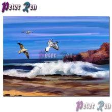 Пейзаж алмазная живопись Вышивка Чайка Летающий diy квадратная