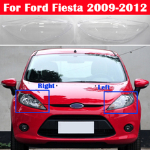Car Front Transparent Headlight Cover For Ford Fiesta 2009 2012 Auto Lampshade Head Lamp Light Shell Glass Lens Housing Case